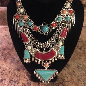 🌹BOGO equal OR lesser value❣️Lg Tibetan Necklace